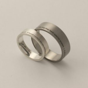 funny wedding ring engraving idea
