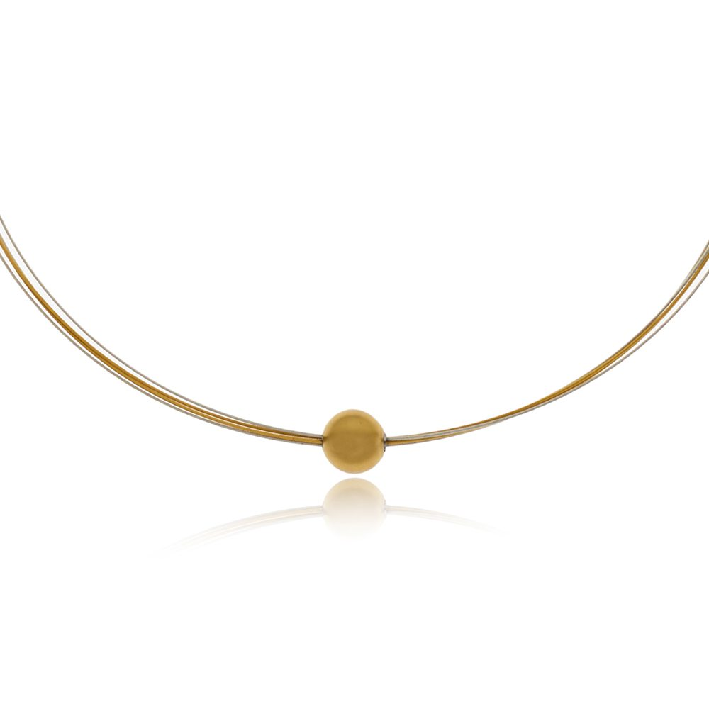 Gold sphere neckpiece 2