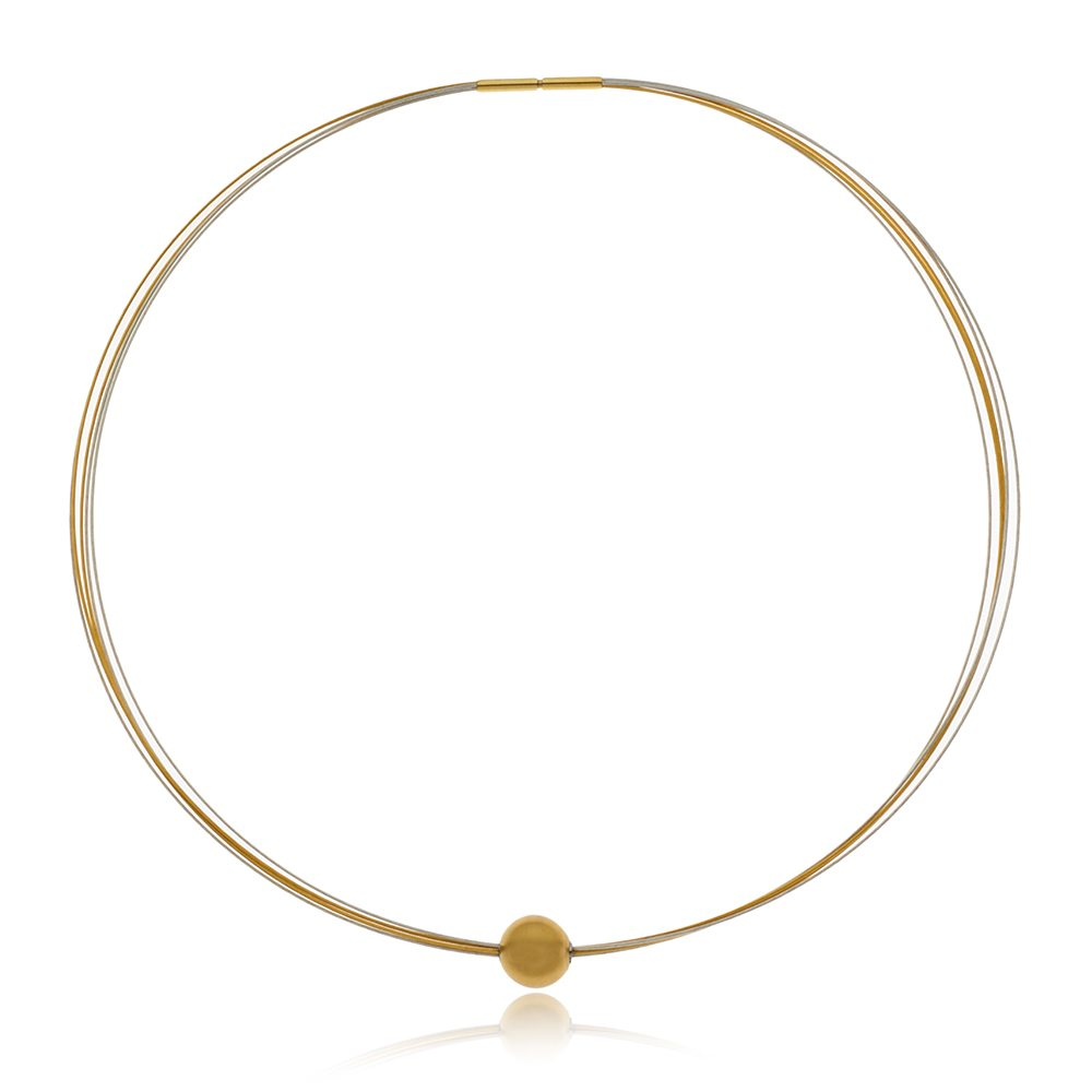 Gold sphere neckpiece