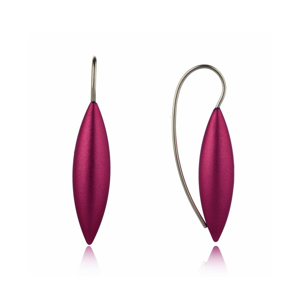 Large tulip earrings - purple