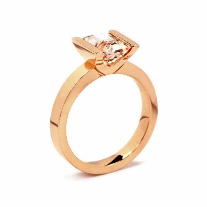 xl modern morganite engagement ring