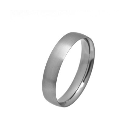 Narrow curved titanium ring