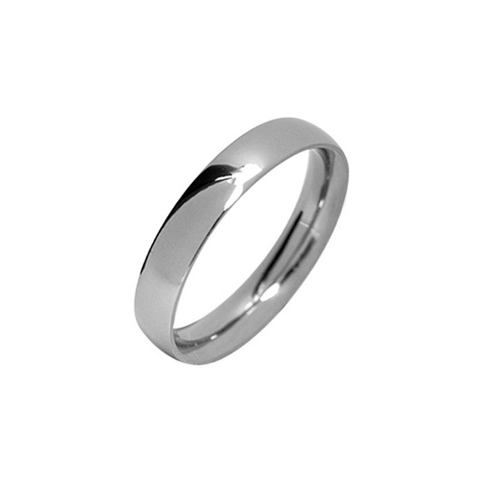 Narrow polished titanium ring
