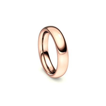 Rose gold curved ring