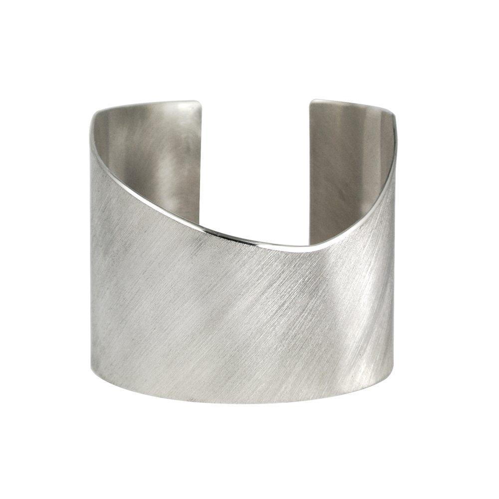 Silver plexus cuff bangle