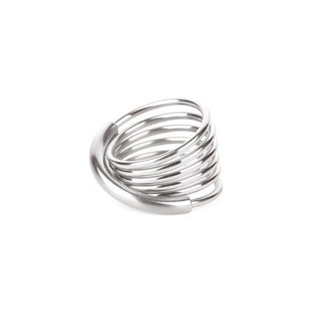 Steel infinity ring