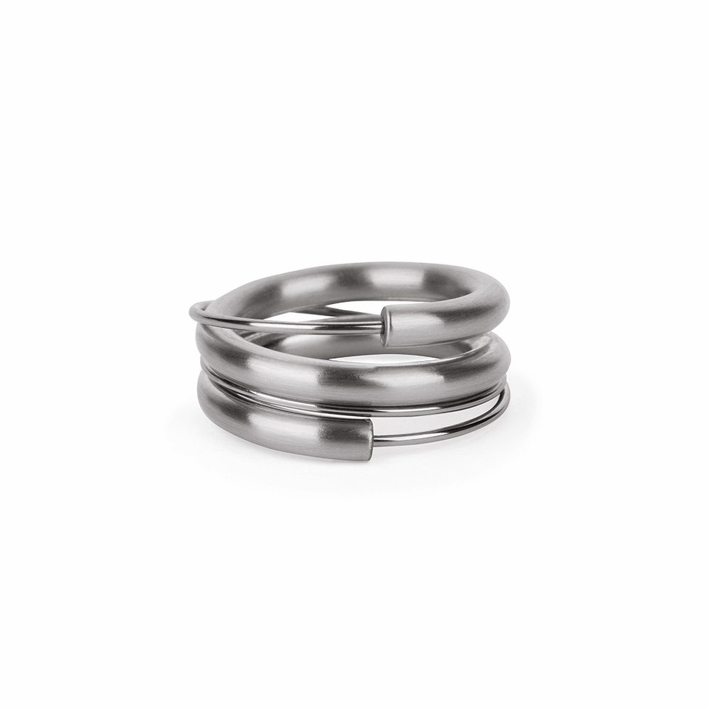Steel wrap around ring