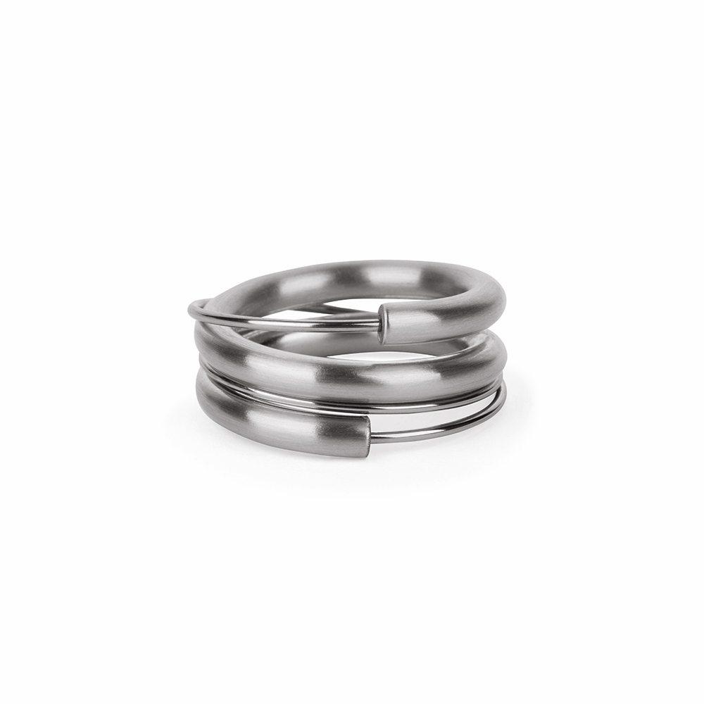 Steel wrap around stacking ring