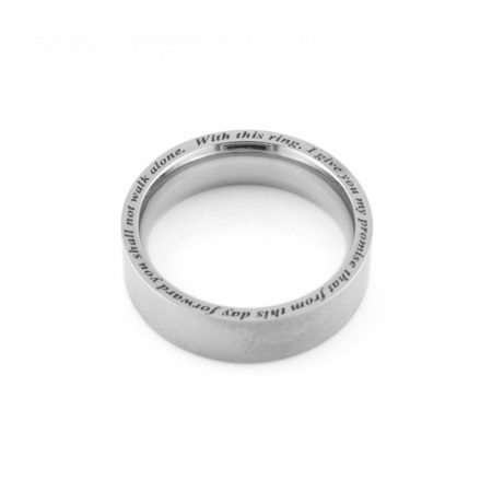 men's Titanium wedding ring with edge engraved 2