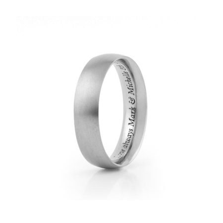 Titanium ring with simple engraving