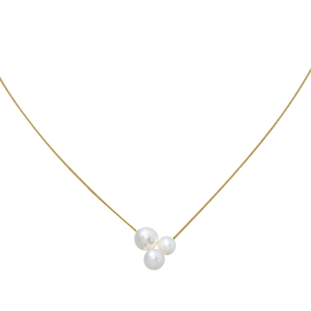 Triplet gold and pearl neckwire 2