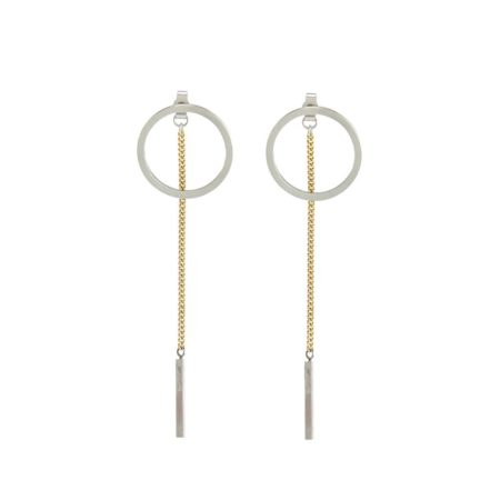 Two-tone celestial earrings