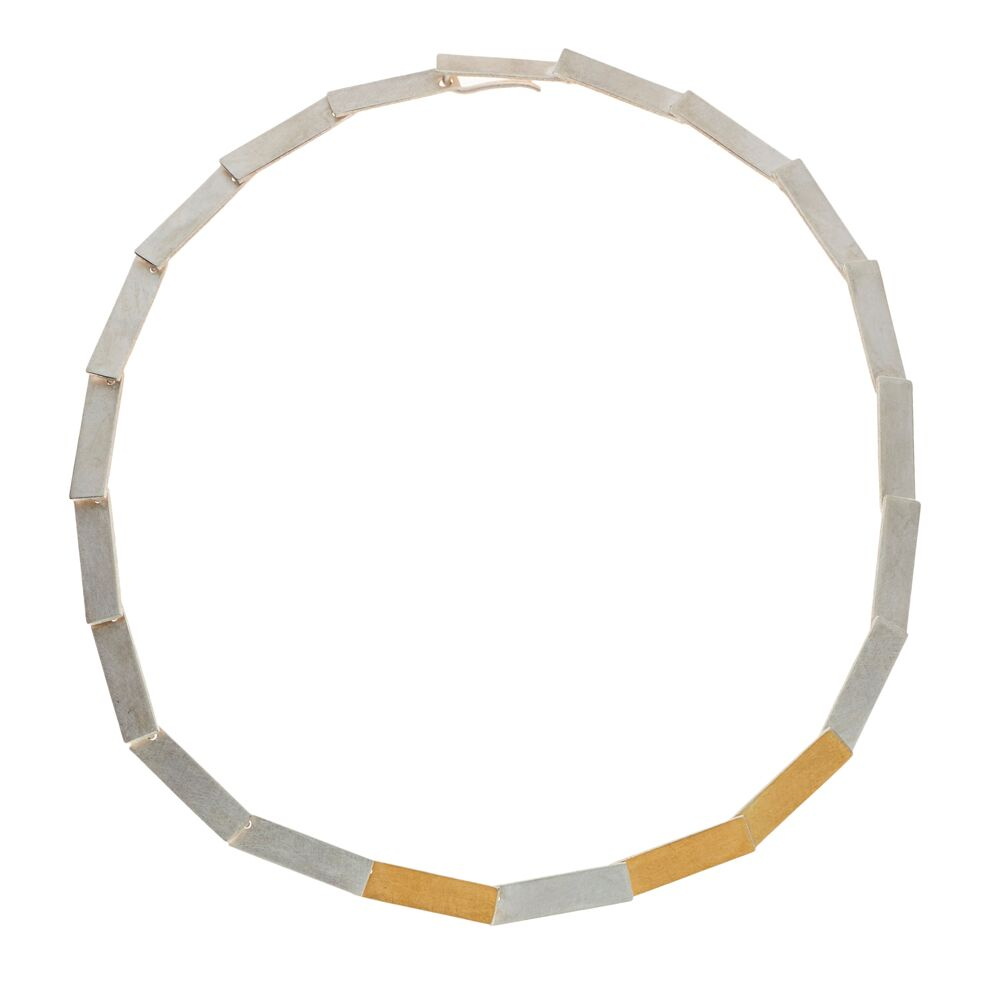Two-tone rectangles neckpiece