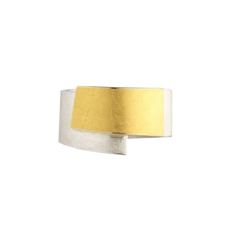 Two-tone wrapover ring - front