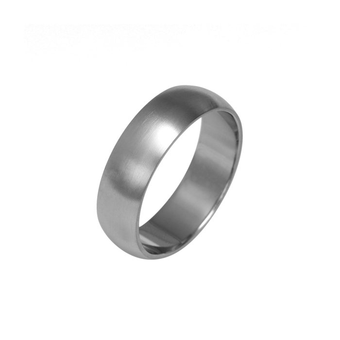 Wide curved titanium ring