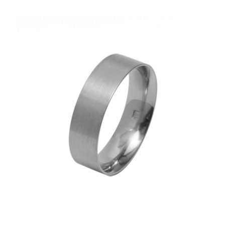 Wide flat titanium ring