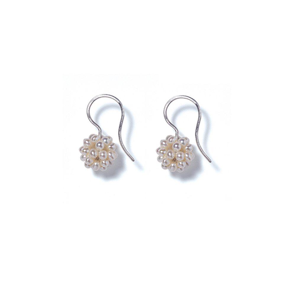 Cream pearl cluster earrings