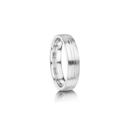 Double groove wedding ring