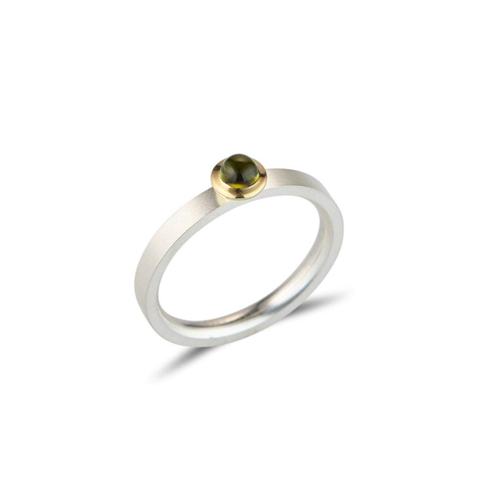 Kaleidoscope ring - green tourmaline