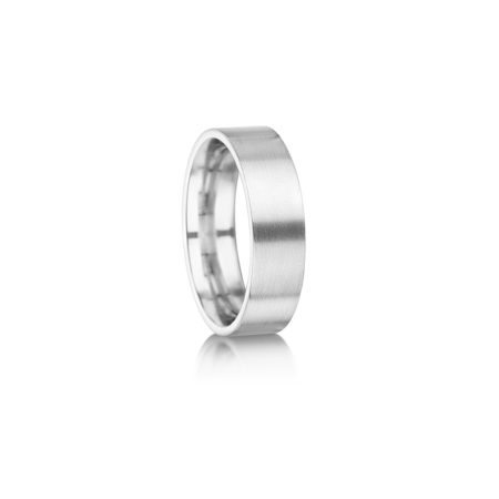 Matte finish wedding ring