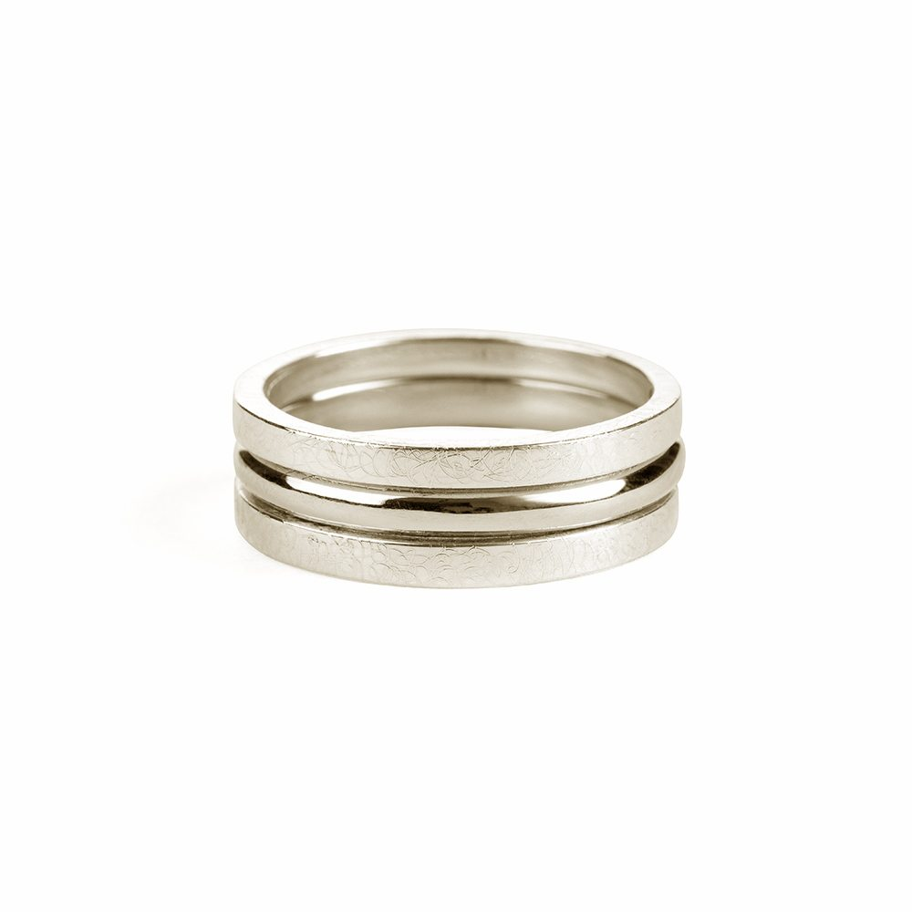 Stacking rings - silver