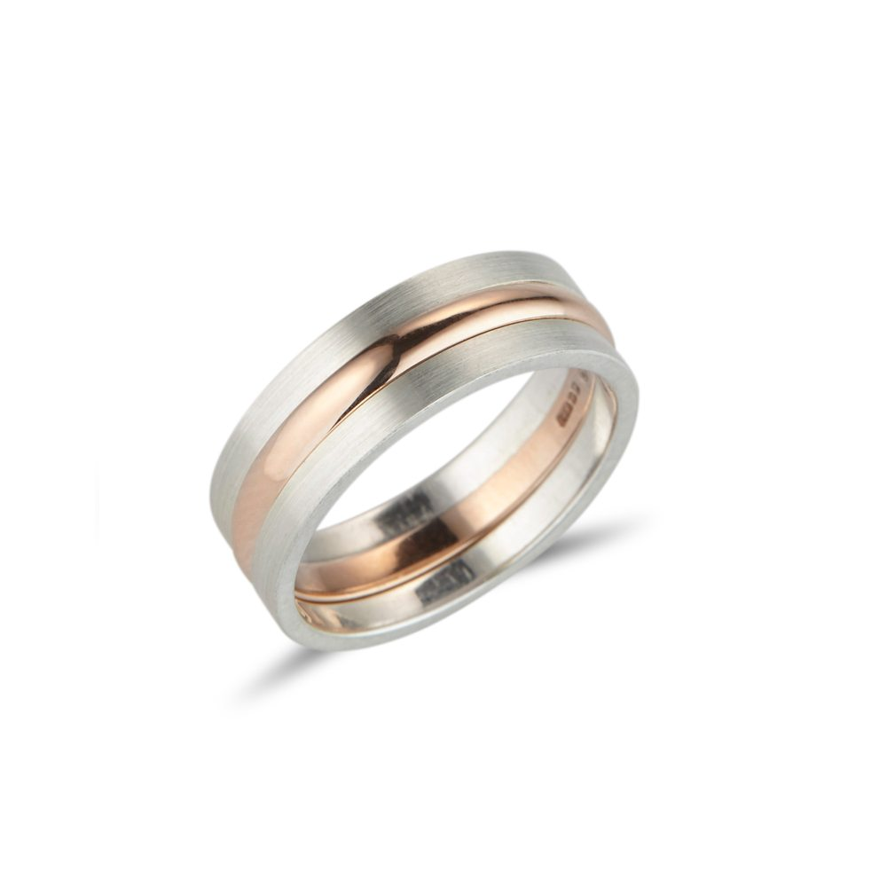 Stacking rings - silver - rose gold