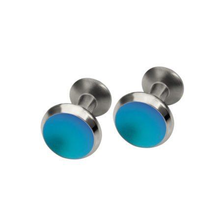 Turquoise titanium cufflinks