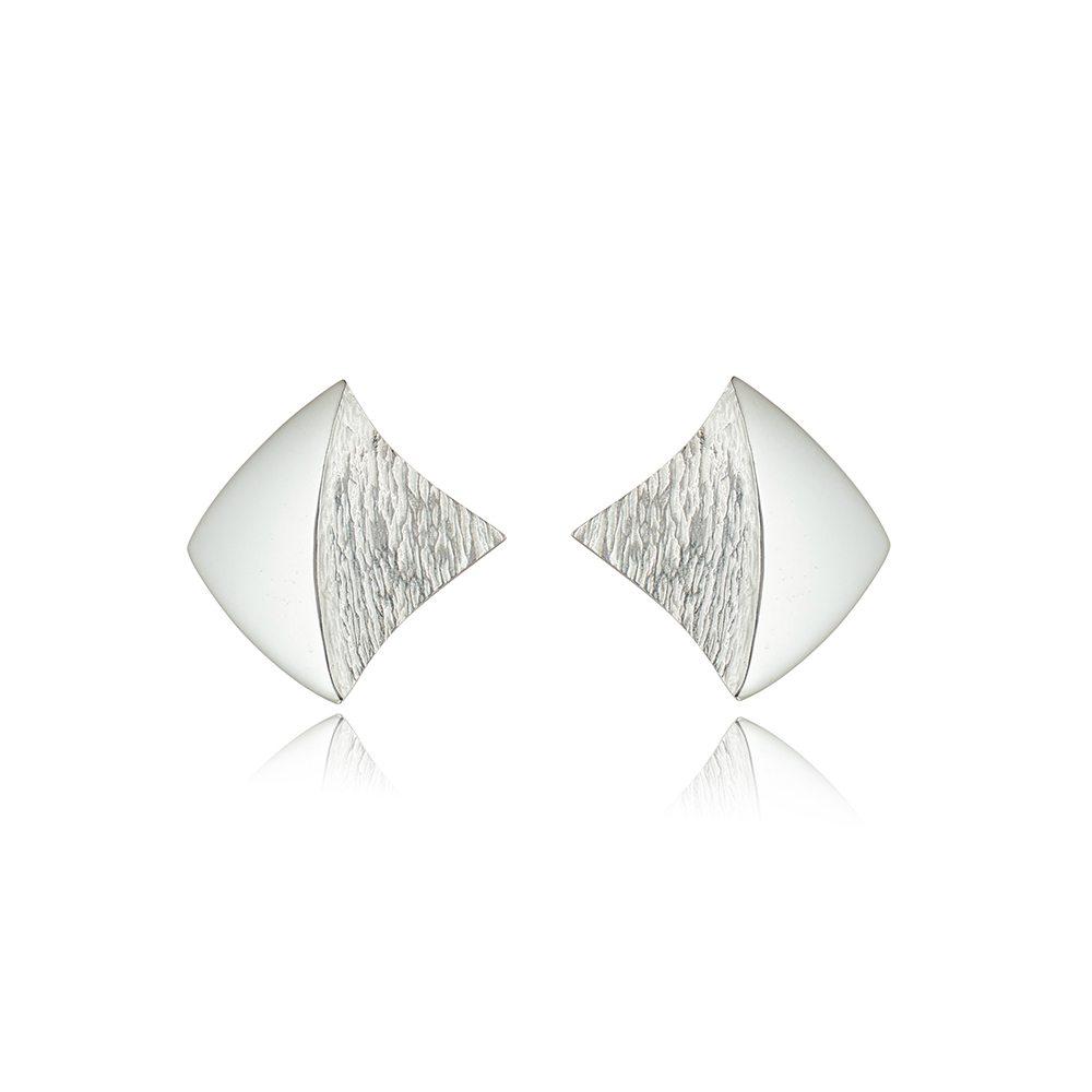 Shadow-lines-silver-stud-earrings
