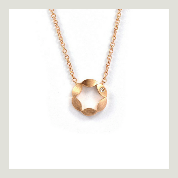 Juliet rose gold diamond Pendant
