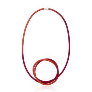 Cerise Orange Knot Necklace