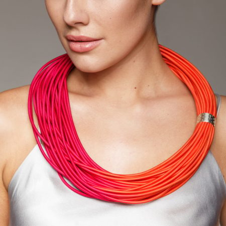 Cerise Orange Necklace