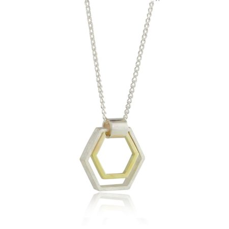 Small Two-tone Hexagon Pendant