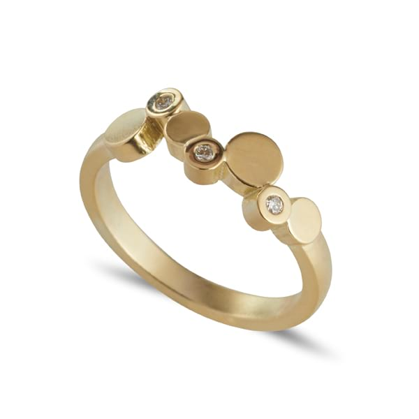 Stepping Stones Gold Ring