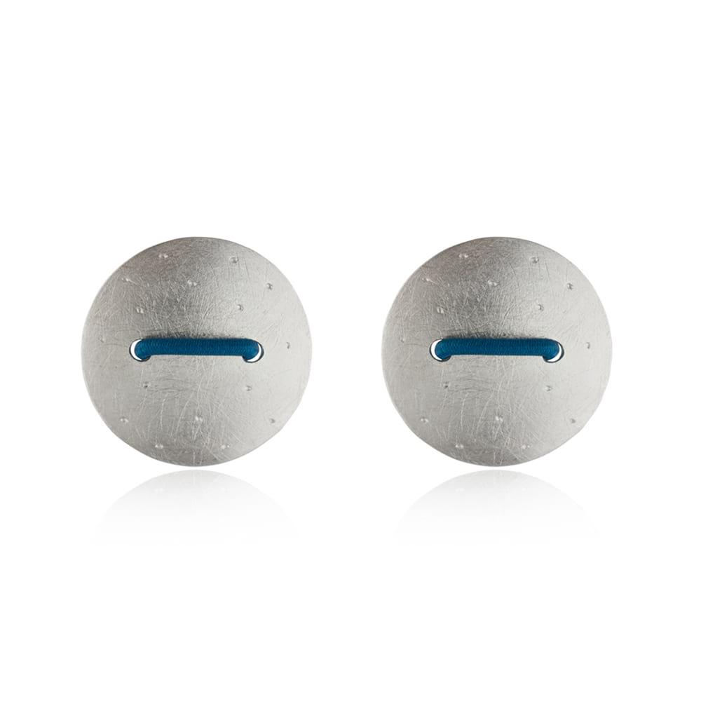 Teal Stitch Earrings