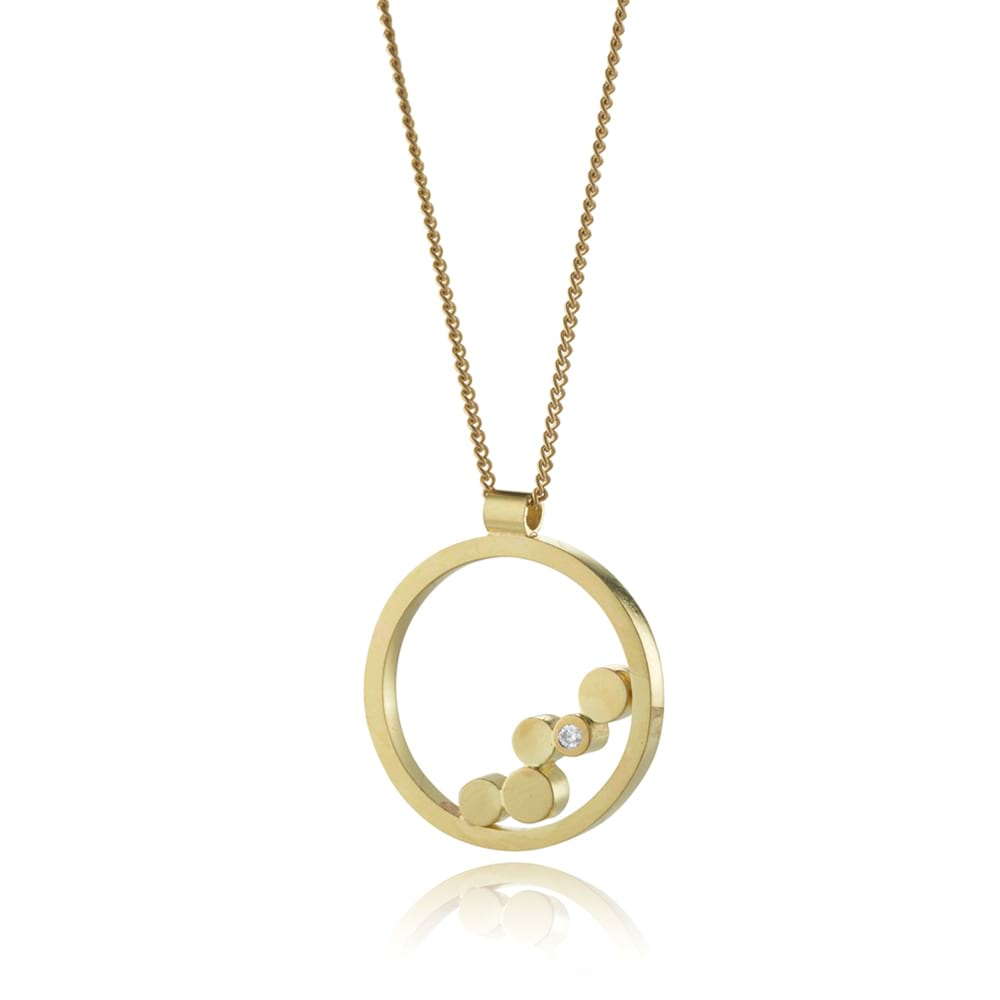 18ct Gold stepping stones pendant