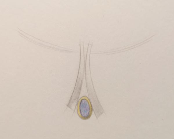 Opal Pendant Sketch