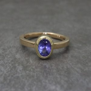 Bezel Set Oval Ring