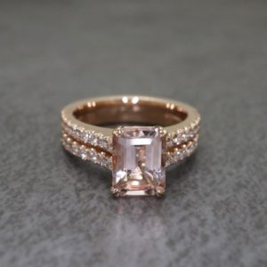 Double Band Morganite Roseann Ring