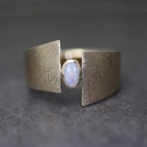 Eclipse Ring with Opal