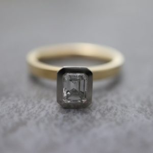 Emerald Cut Aurora Ring