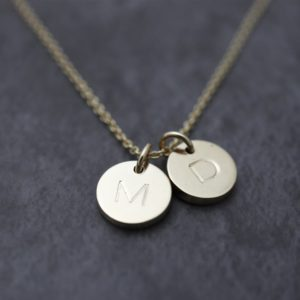 Engraved Disc Pendant