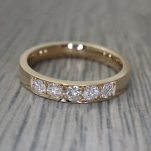 Pave Set Gold Band