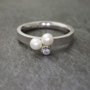 Pearl and Diamond Ring