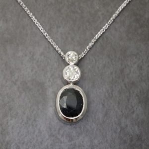 Three Stone Bezel Set Pendant