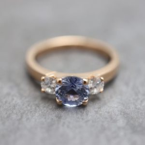 Three Stone Claw Set Engagement Ring