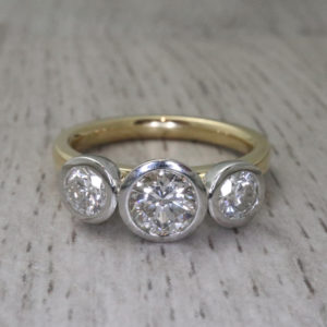 Three Stone Kaleidoscope Ring