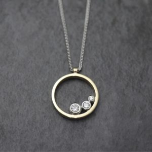 Three Stone Ring Pendant
