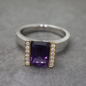 Two-tone Amethyst Lika Ring