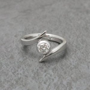White Gold Twist Ring
