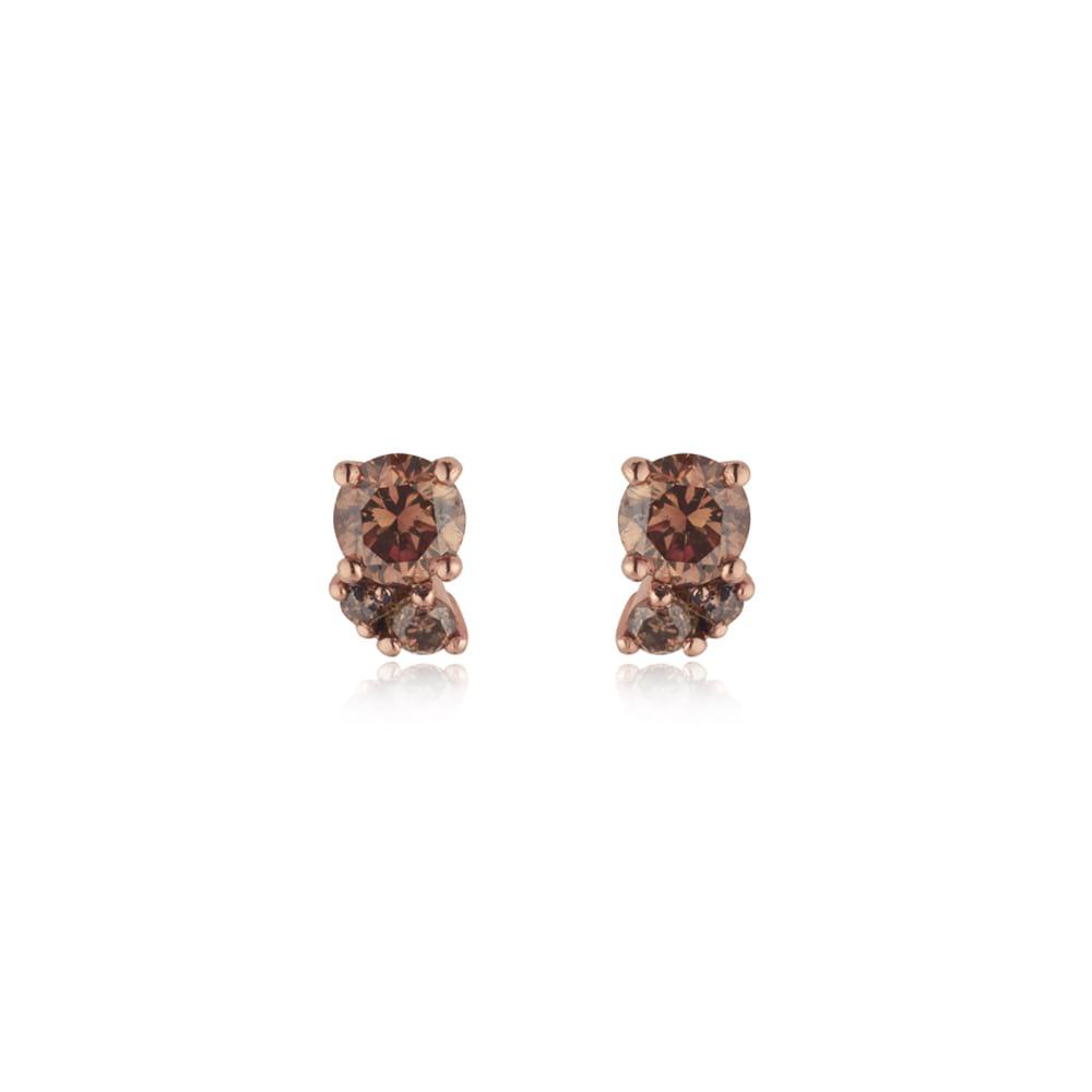 Chocolate Diamond Cluster Earrings